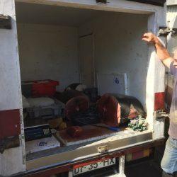 De tonijn van ca. 250 kg zwom gisteren nog voor de kust van Calheta