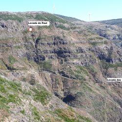 Uitzicht op de levada die gewandeld is.