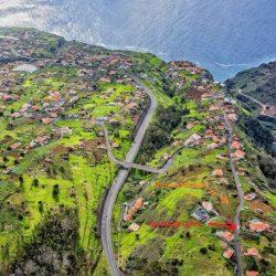Luchtfoto met Quinta en nieuw stukje land